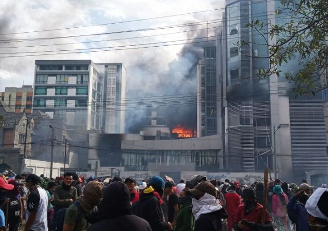 厄瓜多爾近期發生的抗議活動看到「俄羅斯痕跡」