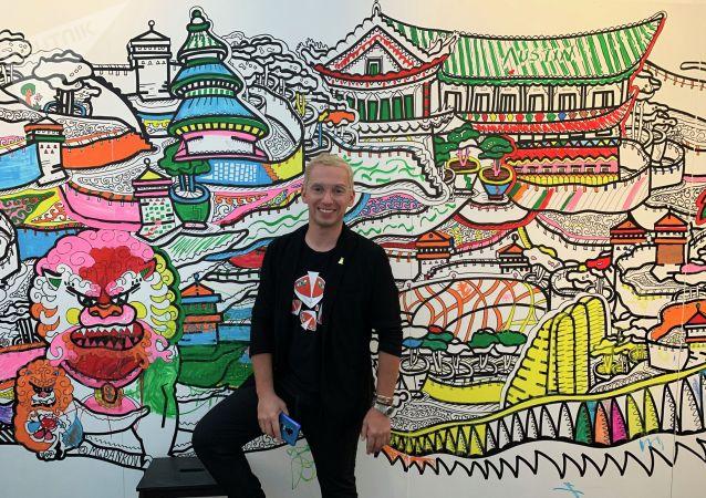 俄當代畫家邀請北京市民創作壁畫