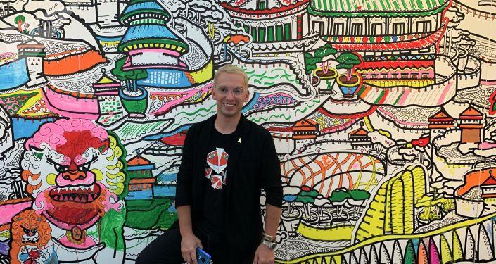 俄当代画家邀请北京市民创作壁画