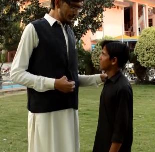 巴基斯坦最高小伙儿