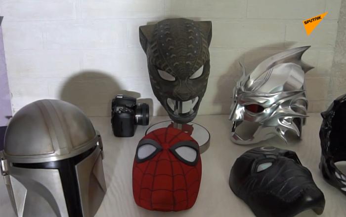 俄烏法團隊製作出超級英雄頭盔面具震撼好萊塢