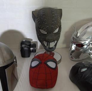 俄乌法团队制作出超级英雄头盔面具震撼好莱坞