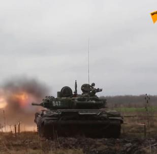 南部軍區坦克兵完成檢驗射擊