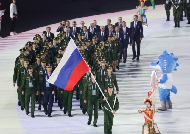 俄羅斯隊目前在第七屆世界軍人運動會上獲獎牌129枚 位居獎牌榜第二