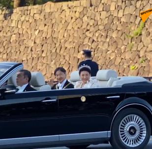 日本举行国民庆典欢迎新天皇