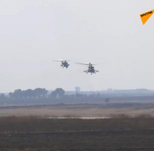 俄首批战斗直升机抵叙进行联合巡逻