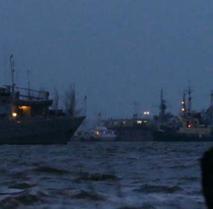 3艘在俄羅斯被扣押的烏克蘭艦艇回到奧恰科夫港