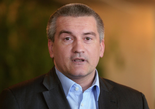 克里米亚领导人谢尔盖·阿克赛诺夫