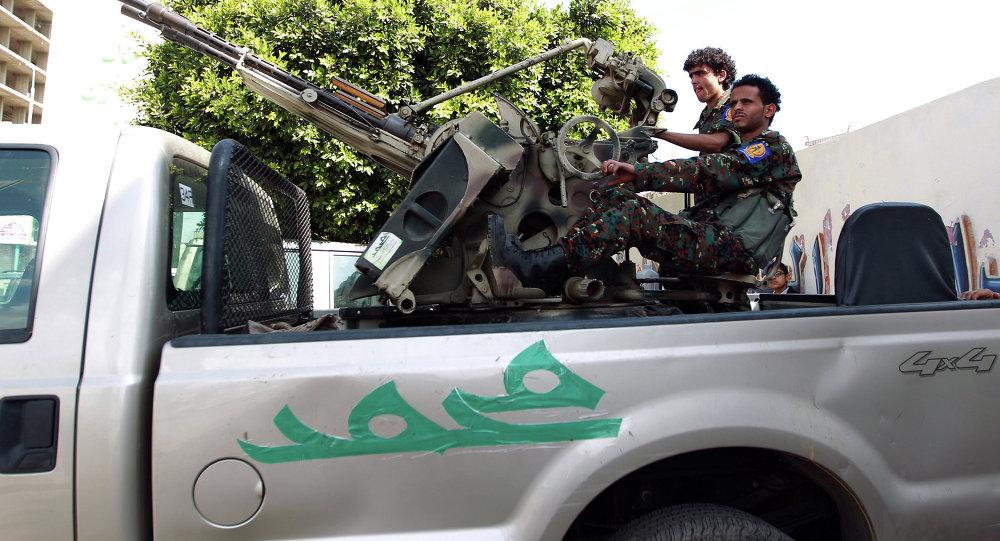 什叶派胡塞武装人员