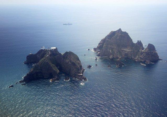 日本就韓國慶尚北道知事前往爭議島嶼提出抗議