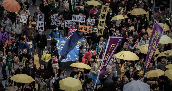 香港数千人示威抗议引渡法案