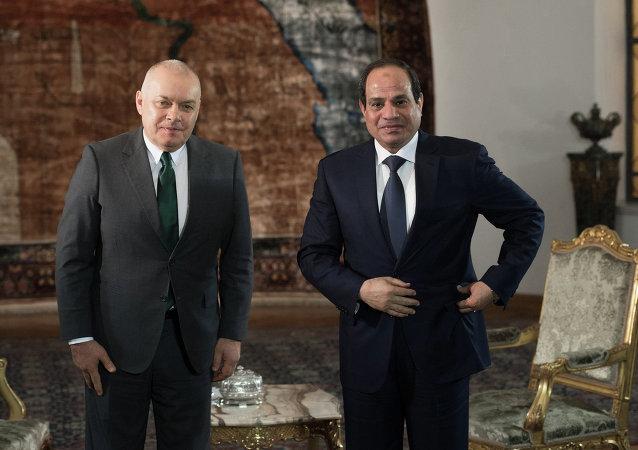 有關俄、埃重啓夥伴關係的前景問題,埃及總統阿卜杜勒•法塔赫•塞西接受了「今日俄羅斯」國際新聞通訊社總經理德米特里•基謝廖夫的採訪。