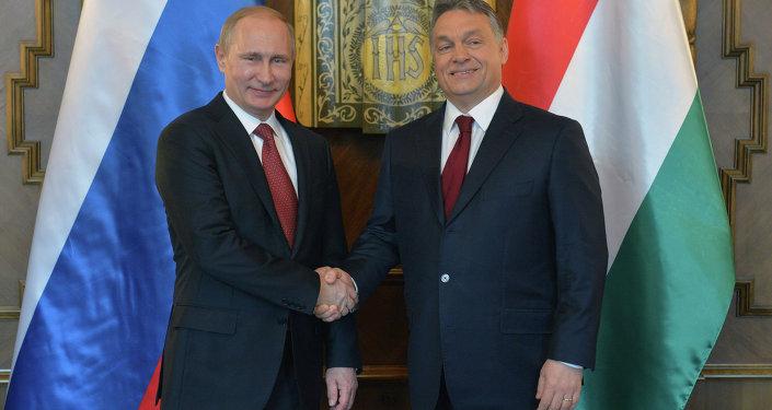 俄罗斯总统弗拉基米尔•普京和匈牙利总理维克托•欧尔班