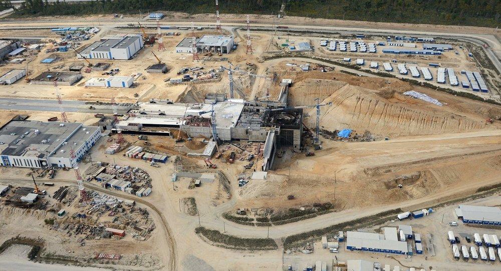 「東方」火箭發射場的建築工地