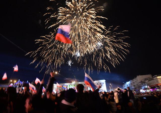 民调:愈90%的克里米亚居民积极评价并入俄罗斯