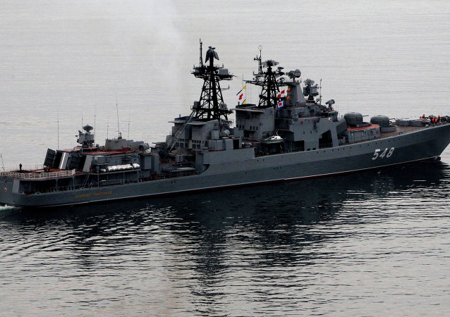 """俄""""潘捷列耶夫海军上将""""号反潜舰"""