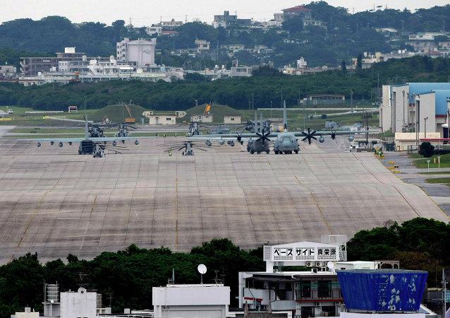 日本冲绳县新美军基地建设工作恢复
