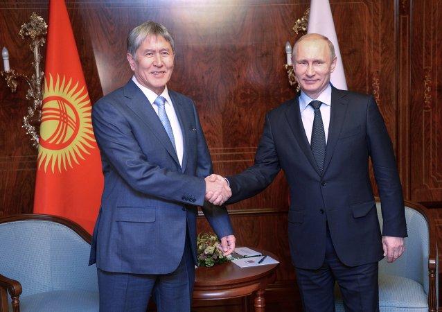 吉尔吉斯斯坦总统:俄罗斯的国际威望日益提高