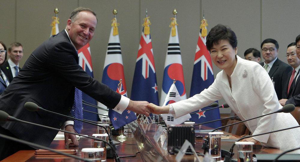 韩国和新西兰签署自由贸易协定