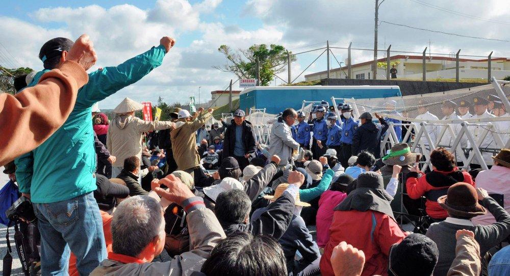 日冲绳县政府威胁将阻止美空军基地建设