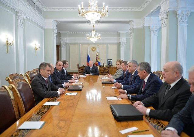 普京在安全理事會會議上討論一系列重要國際問題