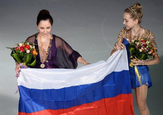俄女选手在世界花滑世锦赛上为俄国家队夺10年来首金