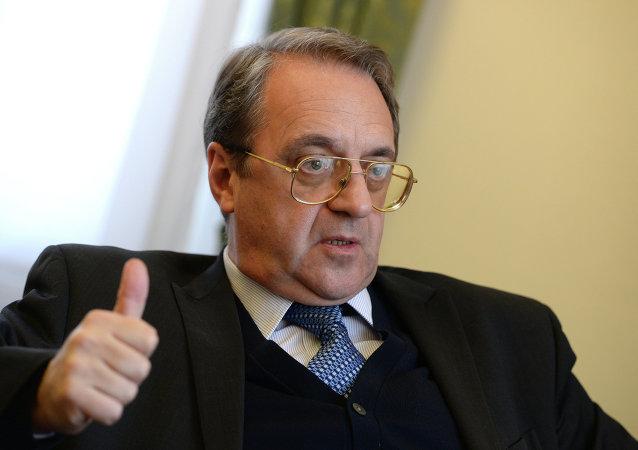 俄总统中东及非洲问题特别代表,俄联邦外交部副部长米哈依尔·博格丹诺夫