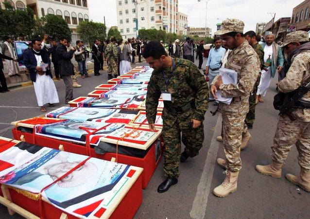 沙特阿拉伯空軍在也門空襲造成21人死亡