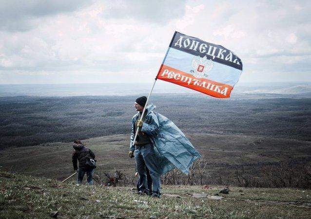 顿涅茨克人民共和国庆祝独立一周年