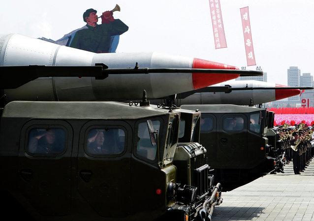 """朝鲜:""""劳动""""弹道导弹/资料图片/"""