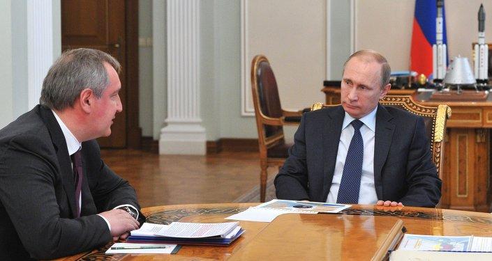 俄總統弗拉基米爾∙普京和俄羅斯副總理德米特里∙羅戈津