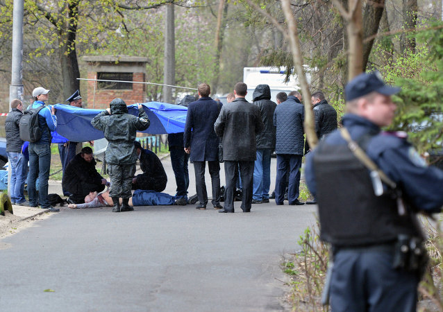 反对派记者奥列斯·布津纳遇害