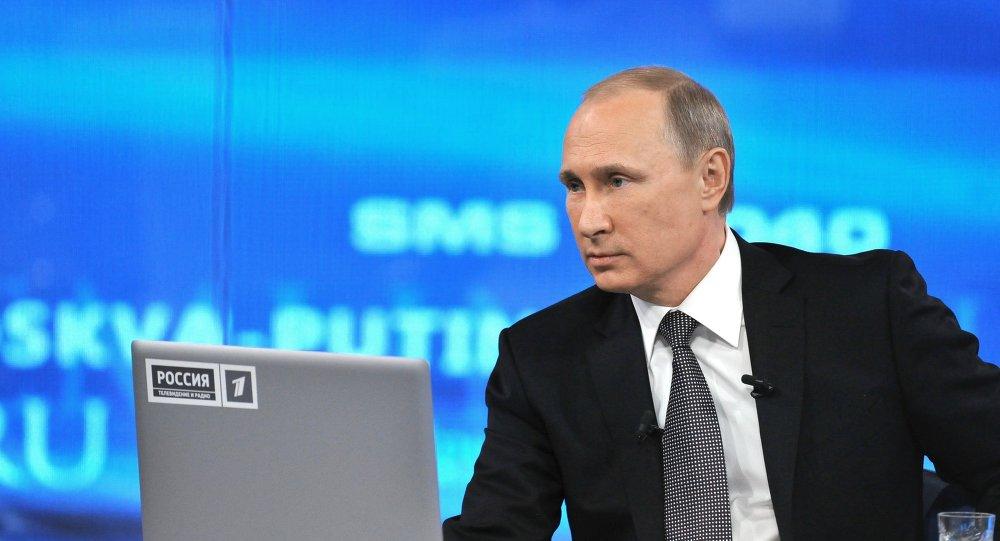 """普京""""直播连线""""收到约56.4万条俄公民留言"""