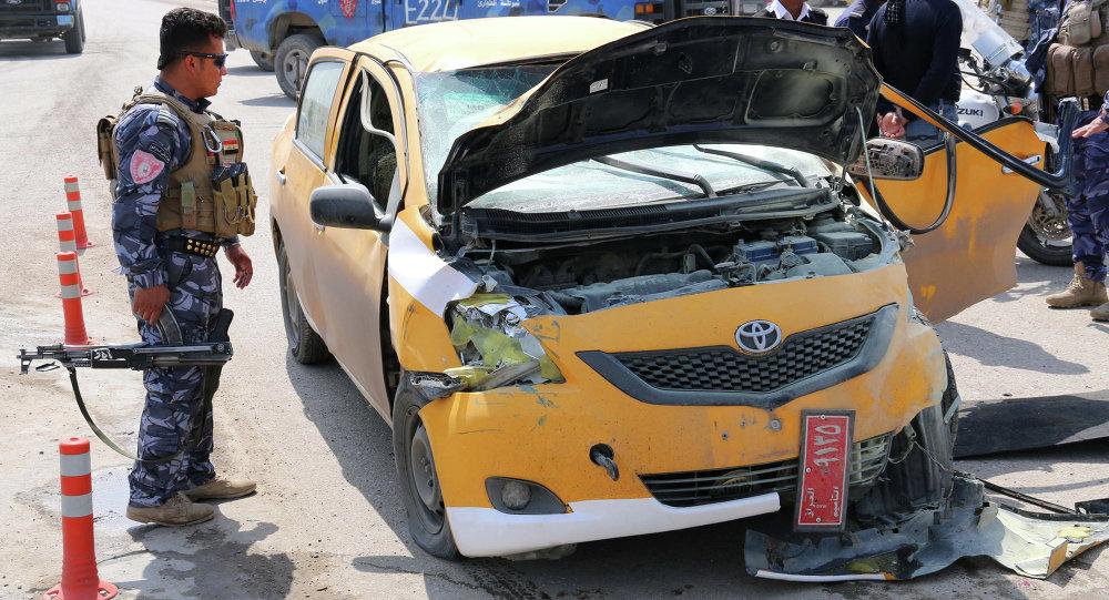 在美國駐伊拉克領事館旁的汽車炸彈爆炸造成1死5傷/資料圖片/
