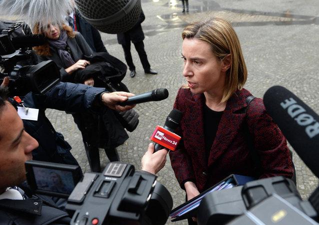 莫蓋里尼 : 歐盟認為只能政治解決敘利亞衝突