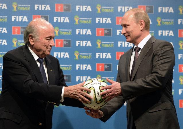 普京祝賀布拉特連任國際足聯主席