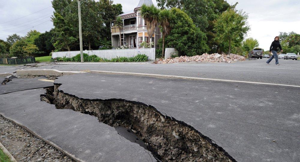新西兰发生强烈地震