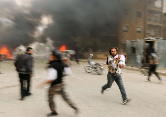 叙利亚吉斯尔舒古尔镇居民遭到伊斯兰武装分子屠杀