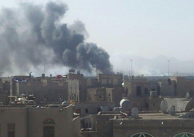 叛军在也门首都上空击落美国无人机