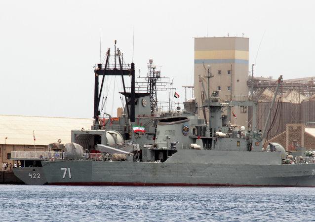 伊朗自主研發的驅逐艦下水
