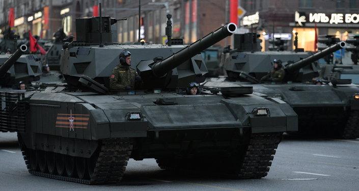 西方專家認為俄「阿瑪塔」坦克將結束西方武器的長期優勢
