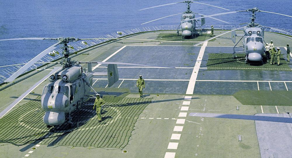 俄中地中海演習聯合指揮部演練艦艇通信科目