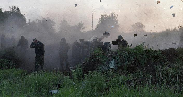 乌克兰军方的炮手