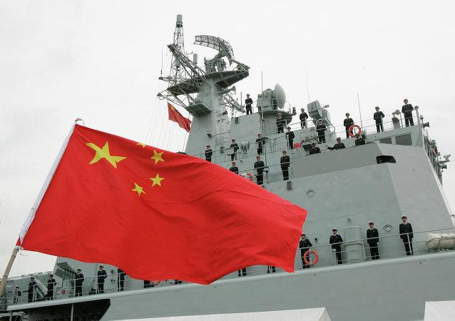 中国海军在日本海开启实兵对抗演练