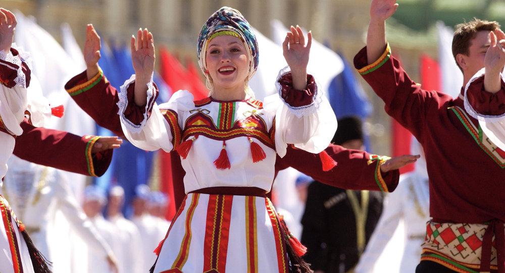 """莫斯科红场——""""世界俄罗斯日""""活动"""