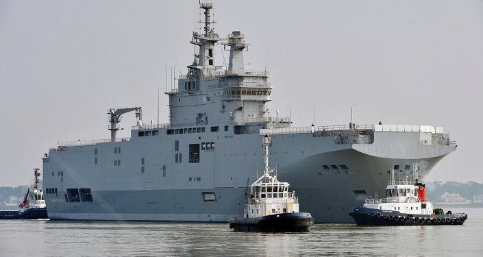 法DCNS集團:6月2日將把為俄建造的「西北風」航母移交埃及