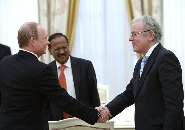 俄羅斯總統普京會見金磚國家安全會議秘書