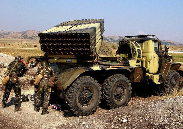 頓涅茨克人民共和國稱記錄到烏軍使用「冰雹」多管火箭炮
