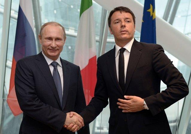 克宫:普京与意大利总理伦齐讨论能源和工业领域合作项目