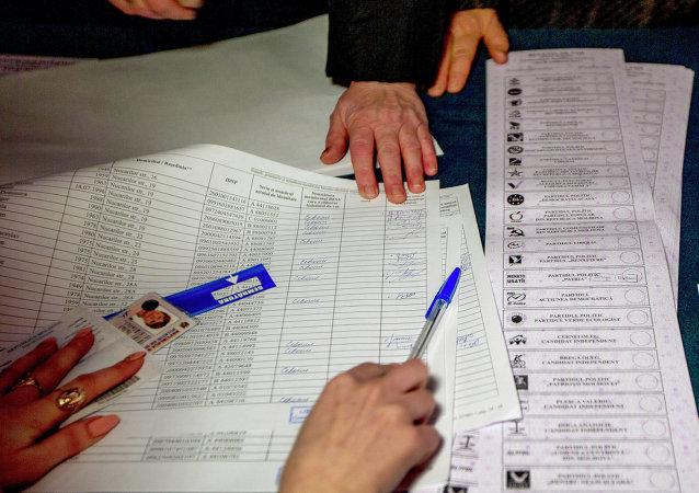 摩爾多瓦選舉投票 (資料圖片)